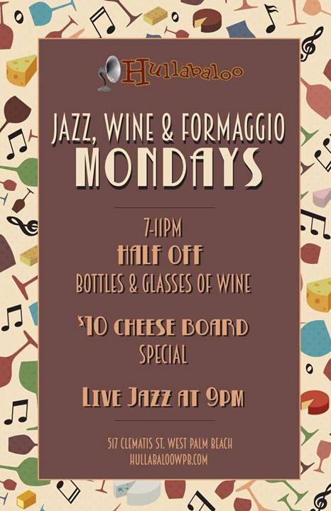 Featured image for 'Jazz, Wine, & Formaggio Mondays at